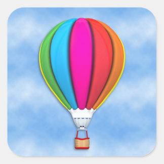 Square Hot Air Balloon Sticker