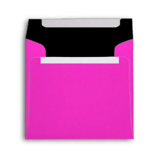 Square Hot Pink and Black Color Combo Envelopes