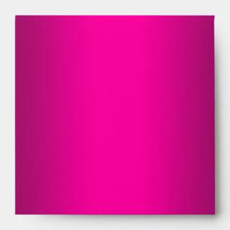 Square Hot Pink Black Linen Envelopes