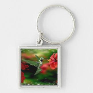 Square hummingbird keychain