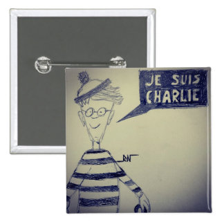 """Square """"I swipe in am Charlie"""" by REN Pinback Button"""