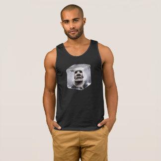 Square Ice Cube Tiki Moai Logo Tank Top