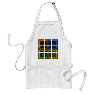 Square in a box adult apron