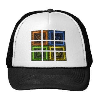 Square in a box trucker hat
