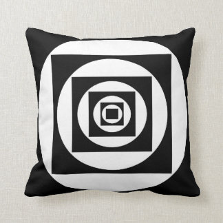 Square in Circles/Circles in Squares Throw Pillow