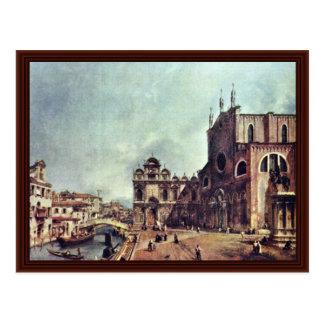 Square In Front Of San Giovanni E Paolo In Venice Postcard