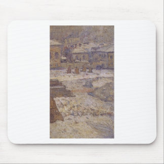 Square in front of the Museum of Fine Arts Mouse Pad