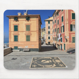 square in Sori, Italy Mouse Pad
