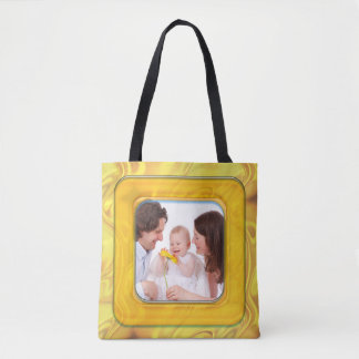 Square in Square Frame colored 4 + your photo Tote Bag