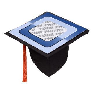 Square in Square Frame colored V + your photo Graduation Cap Topper