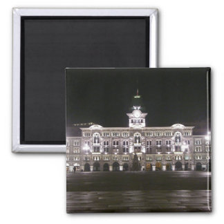 Square in Trieste 2 Inch Square Magnet