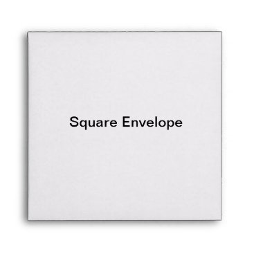 Beach Themed Square Invitation Envelope