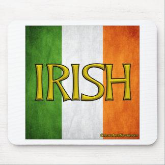 Square Irish Flag Collage Mouse Pad