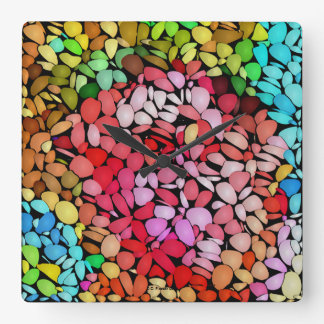 Square Jelly Bean design Wall Clock