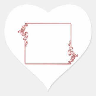 Square Jewel Frame Border : Add text, IMG Heart Sticker