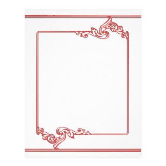 Square Jewel Frame Border : Add text, IMG Letterhead