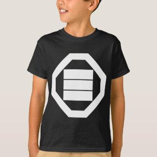 Square Kanji characters for three in Oshiki T-Shirt