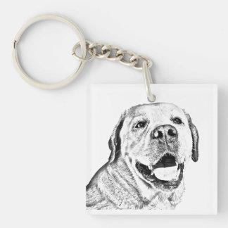 Square Key Chain - Labrador Retriever