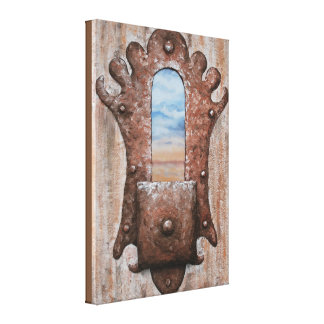 Square Knobbed View by Fine Artist Alison Galvan Canvas Print