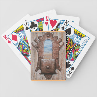 Square Knobbed View by Fine Artist Alison Galvan Bicycle Poker Cards