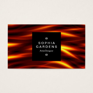 Square Label 01a - Tongues of Fire Business Card