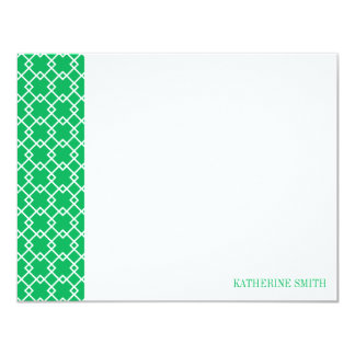Square Lattice Geometric Pattern {Green} Card