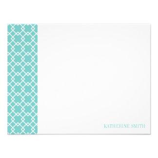 Square Lattice Geometric Pattern {Mint} Personalized Invite