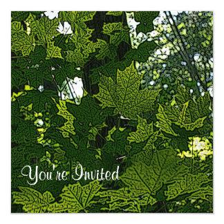 Square Leaf Invitation