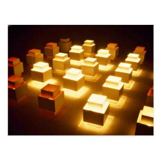 Square lights postcard