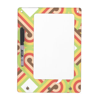 Square lined loops dry erase board