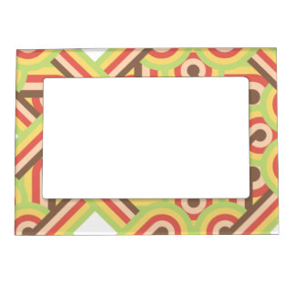 Square lined loops magnetic photo frame