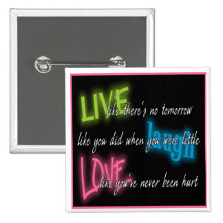 Square Live Laugh Love Button