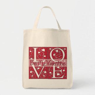 Square Love Valentine Tote Bag