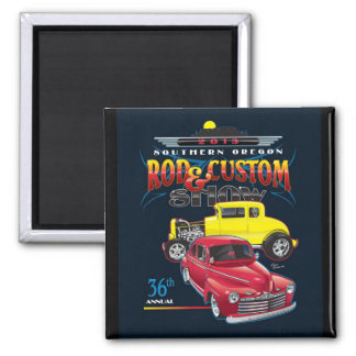 Square Magnet 36th SO Rod & Custom Show Poster