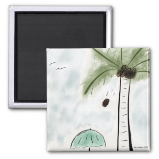 Square Magnet-Coconut Woes 2 Inch Square Magnet