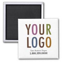 Square Magnet Custom Business Logo Promotional