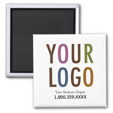 Square Magnet Custom Business Logo Promotional