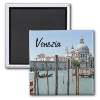 Square Magnet of Venice with text