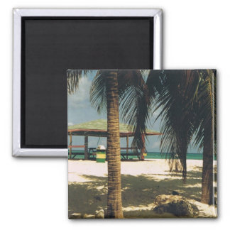 Square Magnet with Island Scene