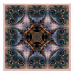 Square Mandala  212 Print Poster