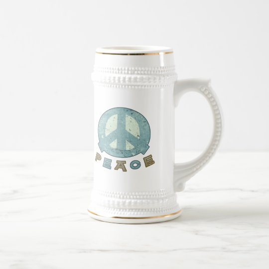 Square Meal Peace Sign Beer Stein
