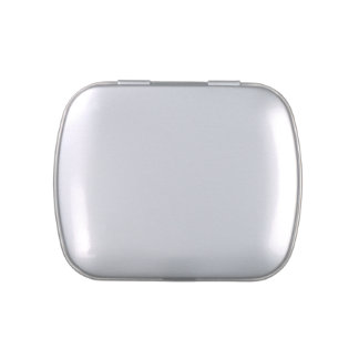 Square Metal Base White Cover Make A Candy Tin