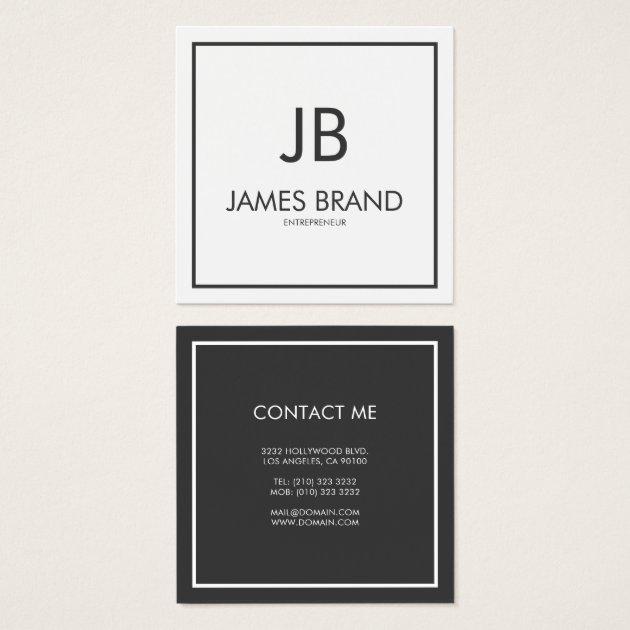 Square Business Cards Templates Zazzle