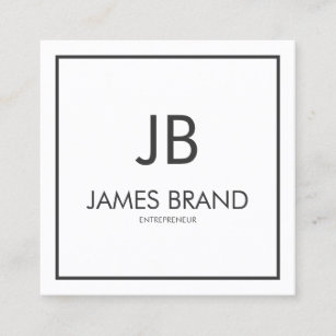Monogram iphone cases zazzle square minimalist black and white monogram square business card colourmoves