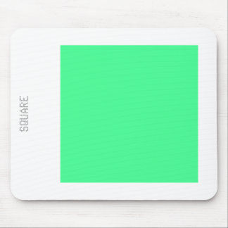 Square - Mint Green and White Mouse Pad