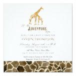 Square Modern Safari Adventure Baby Shower Giraffe Card