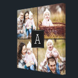 """Square Monogram Custom Photo Canvas<br><div class=""""desc"""">Upload your photo to create a one-of-a-kind gift for yourself or someone else! See our complete collections at berryberrysweet.com. Custom colors also available upon request. Design &#169; berryberrysweet.com</div>"""