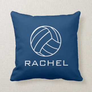 Square Navy Blue Volleyball Pillow