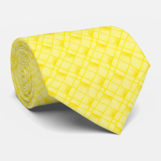 Square Oblong Circle From Yellow Textured Shape Neck Tie