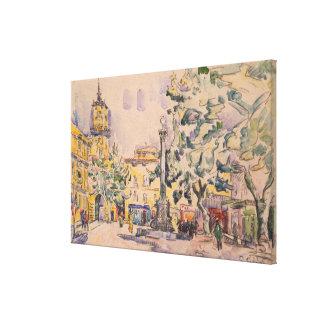 Square of the Hotel de Ville in Aix-en-Provence Canvas Print